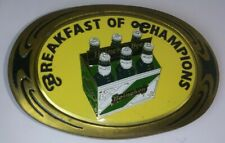 Heineken Beer Breakfast of Champions 1983 NAP Solid Brass Vintage Belt Buckle 29