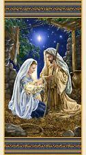 Glory Panel Christmas Panel Nativity Fabric