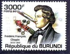 Burundi 2011 MNH, Chopin, Polish composer, virtuoso pianist, Music - H@