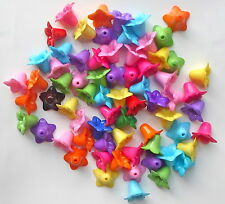 20 x Gorgeous Bright Colours Acrylic Flower Lily Beads 18mm Craft/Jewellery- A5