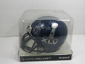 Authentic SUPER BOWL XLV Mini Helmet Signed by Jerome Bettis