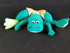 "CLOUD 9 Vtg STUFFED Toy Frog swim trunks PLUSH Animal 13"" across"