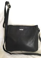 JOAN WEISZ Black Leather Travel/Cross Body/Shoulder Bag / Handbag