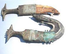 Vintage Antique two Yemen Silver Arabian Silver Jambiya Dagger Sword Knives