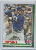 2019 Topps Holiday Kris Bryant SP (Holding Candy Cane) HW197 Chicago Cubs
