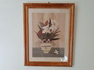wooden craft paintings-- framed (Flower)