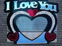 I Love You Picture Frame Personalized Free picture frame and stand 4 x 6 picture