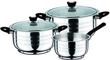 Swiss Home 5 Piece Stainless Steel Pot & Pan Set Induction