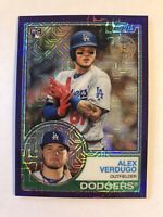 Alex Verdugo 2018 Topps Silver Pack Retro Rookie Refractor PURPLE /75 Dodgers RC