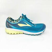 Brooks Womens Ghost 10 1202461B422 Blue Lime Running Shoes Lace Up Size 8.5 B