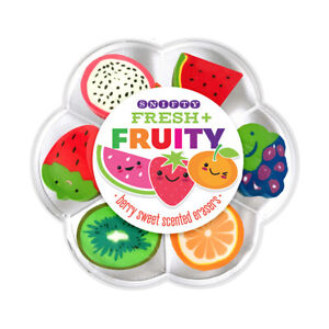 Fresh & Fruity Berry Sweet Scented Erasers/Rubbers - Set of 7
