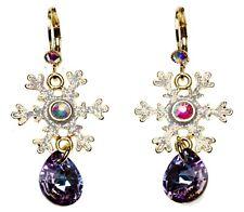 Kirks Folly Snowflake Desire Leverback Earrings goldtone