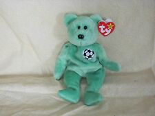 Beanie Baby Kicks Soccer ball Bear DOB August 16 1998 PE Pellets