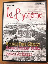 1973 PUCCINI: LA BOHEME 2 Cassette Box Set With Booklet Berlin Phhilharmonic!