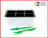 10 Set Seed Starter Tray 60 Cell Seedling Tray Plant Grow Kit with Humidity Dome