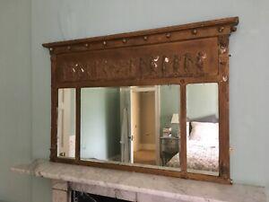 Regency Neoclassical Overmantel Mirror