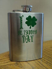 St. Paddy's Day 4 Oz. Stainless Steel Flask