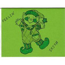 Dancing Leprechaun - D - Handmade Good Greeting Supply Card CLEARANCE