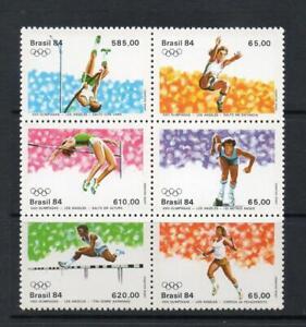 BRAZIL MNH 1984 SG2066-2071 OLYMPIC GAMES