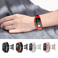 2 in 1 Smart Watch Bracelet Wireless Bluetooth Earbuds Headset Headphones