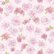Blooming Rose Flower Wallpaper Pattern Ideas Self Adhesive Vinyl Wall Coverigng