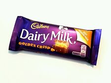☘IRISH CADBURY GOLDEN CRISP CHOCOLATE 8 X 54g Bars Ireland Dairy Milk BB 02/18☘