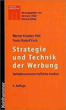 Strategie und Technik der Werbung Kroeber-Riel, Werner Esch, Franz-Rudolf  Buch