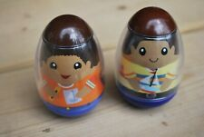 WEEBLES BOYS WITH BOATS, 2009, PRE-OWNED, GOOD CONDITION