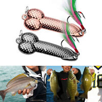 1Pcs Fishing Lures Tackle Hook Dick Spinner Spoon Pike VIB Wobble Tackle Hook