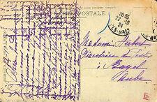 10 BAYEL MME HERBERT DIRECTRICE DES POSTES CARTE POSTALE BEAULIEU-SUR-MER 1924