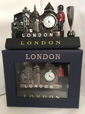 Metallic Pen Card Holder & Clock London British Souvenir Gift