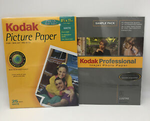 "KODAK Picture Paper MATTE 8.5"" x 11"" 25 Sheets BONUS Professional Paper"