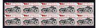 BSA MOTORCYCLES STRIP OF 10 MINT VIGNETTE STAMPS, 1932 L32-4
