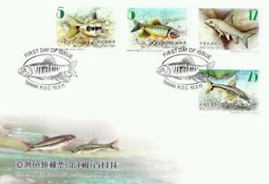 Fishes Of Taiwan (I) 2011 Animal Fauna Marine Life Underwater River (stamp FDC)