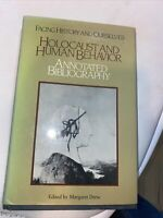 Margaret DREW / Holocaust and Human Behavior Annotated Bibliography 1st ed 1988