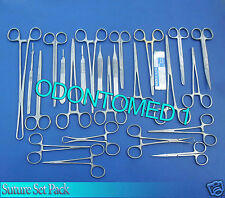 Suture Kit Suture Setsuture Pack Veterinary 45 Pcs Surgical Instruments