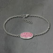 Bracciali di bigiotteria rosa ovale