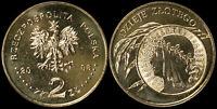 Pologne. 2 Zloty. 2006 (Pièce KM#Y.582 Neuf) Histoire du Zloty - 1932