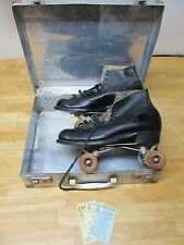Vintage LYTLE ROLLER SKATES MENS 10 With Case And Original Chicago Wheels