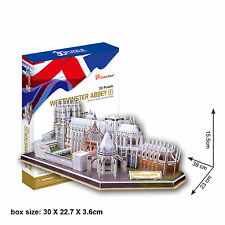 3D Jigsaw Puzzle Scale Model DIY Toy Decoration Monument Westminster Abbey