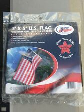 U.S. Flag 3' x 5' Quality with Brass Grommets Proudly Made in U.S.A.NEW Sealed