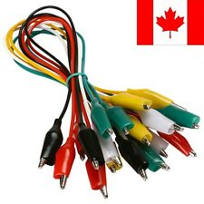 10 Pack Spring Loaded Alligator Clips Connector With Wires - SHIPS FROM CANADA