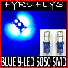 2X SUPER BLUE 9-LED LIGHTS 5050 SMD XENON HID T10/T15 #R3