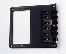 Guitar Parts TELECASTER BRIDGE - 6 Saddle - Cut for Humbucker - BLACK