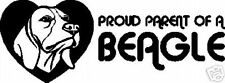Proud Parent Of A Beagle Window Decal Bumper Sticker