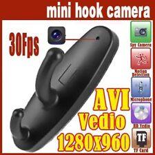 Motion Detection Hanger Spy Clothes Hook Cam Hidden Camera Nanny DVR BLACK