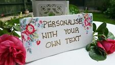 Shabby Chic Floral Personalised Decorative Plaques & Signs