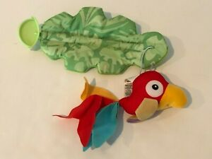 Fisher Price Rainforest Jumperoo Replacement Part Hanging Red Bird Toy with Leaf