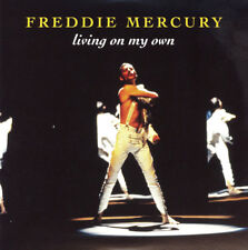 "Freddie Mercury-Living on my own-Queen Larry Lurex Yellow Vinyle 7"" NEW"