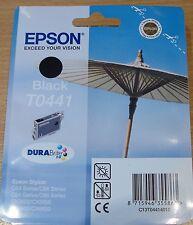 GENUINE EPSON T0441 TO441 Black cartridge ORIGINAL PARASOL OEM fresh sealed ink
